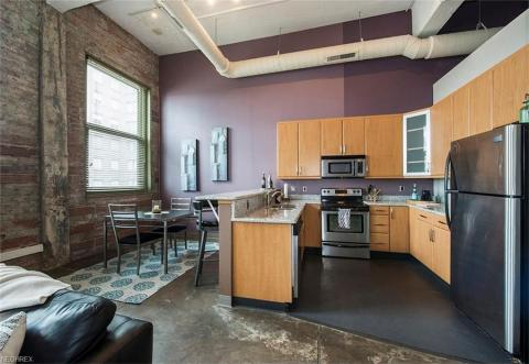 Condo downtown cleveland oh kitchen dinning rm American Book.jpg