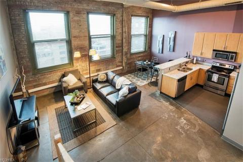 Condo downtown cleveland oh living area American Book.jpg