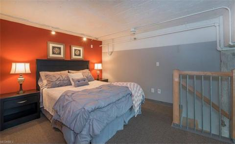 Condo downtown cleveland oh master bedroom loft American Book.jpg
